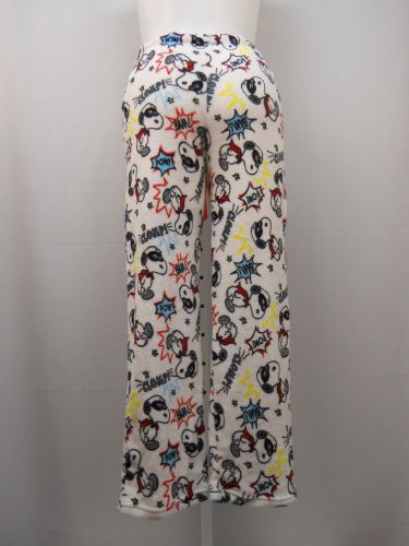 Peanuts Ladies PJ's Sleep Pants Size L Plush Fleece Lounge Sleepwear Bottoms