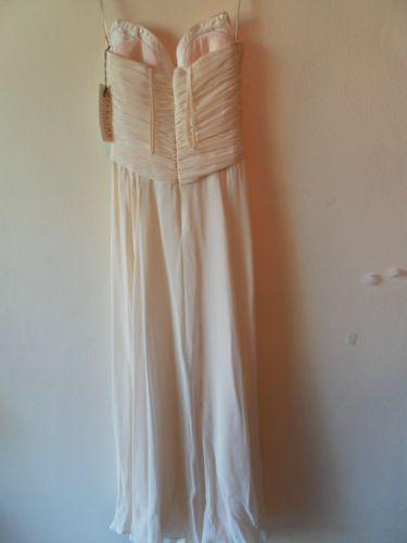 Beautiful NiteLine Bella Roufogali Full Length Organza Dress Size 6 Ivory