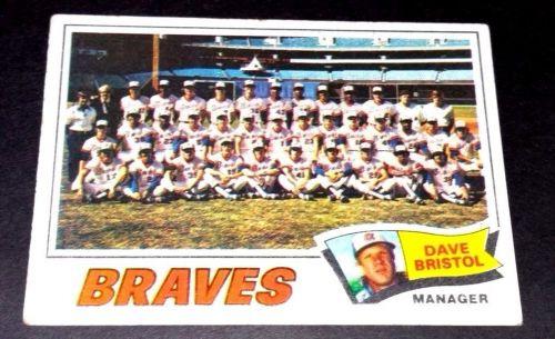 VINTAGE ATLANTA BRAVES 1977 TOPPS TEAM CARD #442 GD-VG