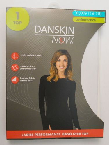 Danskin Now White Performance Baselayer Tagless Brushed Crew Neck Top XL 16-18