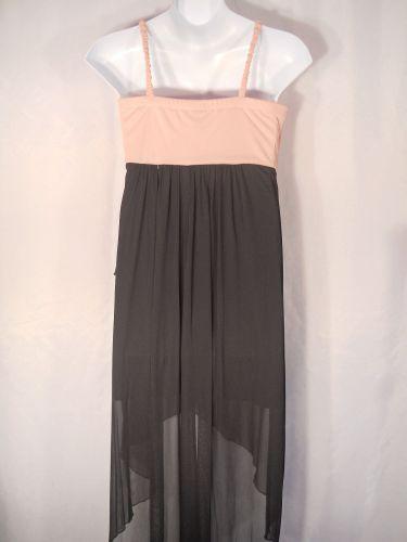 PLUS SIZE 18W Womens Formal Dress ENFOCUS Rose Black Hi-Lo Evening Prom Sequins