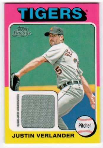 MLB 2011 TOPPS LINEAGE JUSTIN VERLANDER JERSEY MNT