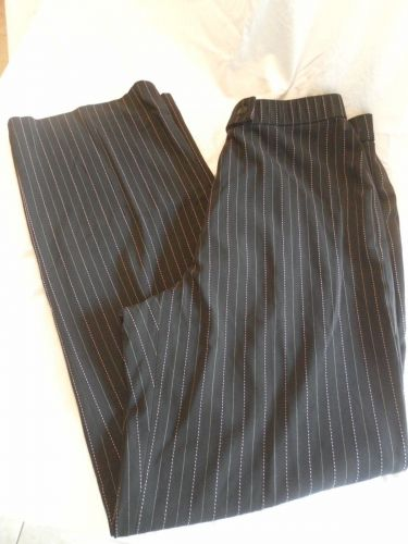 Womens Haggar Stretch Flat Front Dress Pant Blue Size 6