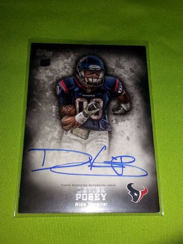 NFL 2013 Topps Inception DEVIER POSEY TEXANS AUTOGRAPHED ROOKE #123 MNT