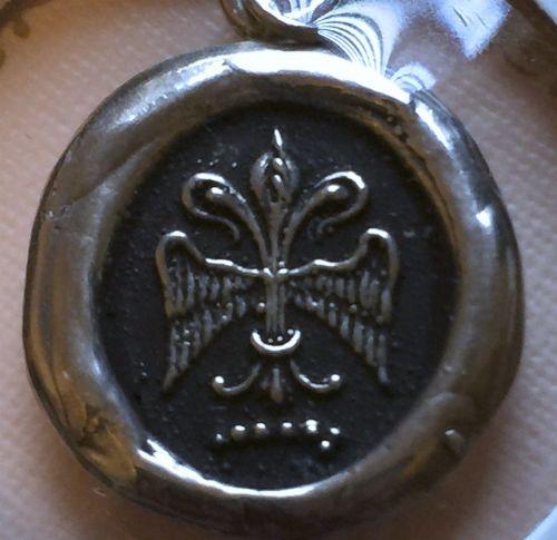 Sterling Silver Pyrrha Talisman Pendant : Fleur De Lys + 16 inch Chain