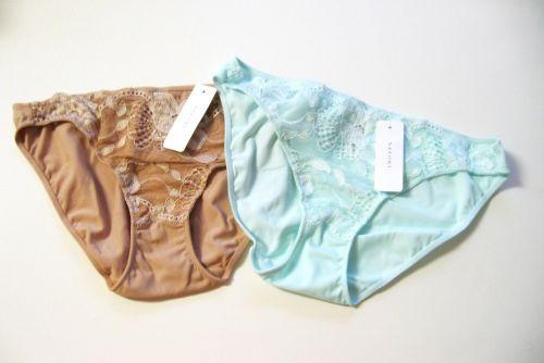 A469 Natori Underneath White Label Zen Floral Embroidered Lace Bikini 153120 New