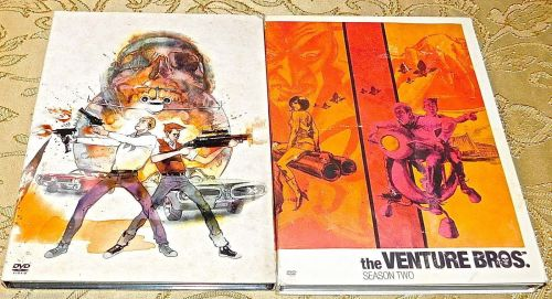 The Venture Bros. Season 1 & 2 DVD lot ONE TWO FIRST SECOND SETs - no box covers