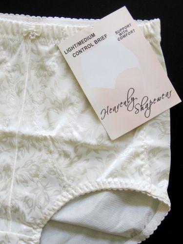SH06 Heavenly Shapewear NEW Women's Ivory Jacquard Light/Medium Control Brief PR