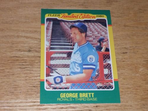 VINTAGE George Brett Royals Superstar 1986 FLLER LIMITED EDITION GLOSSY NMNT-MNT