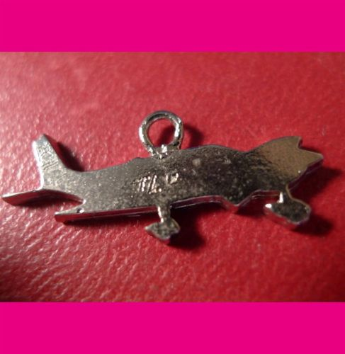 AIRPLANE CHARM : SILVER or PLATE OVER ? SIGNED TL