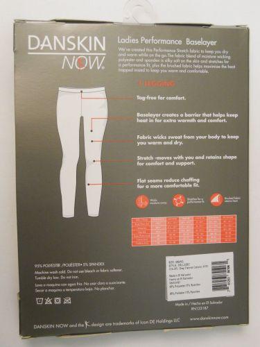 Danskin Now Gray Ladies Performance Baselayer Leggings Size M 8-10 Tagless