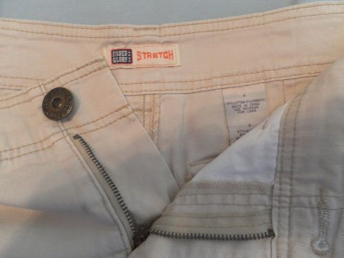 Womens Stretch Shorts Faded Glory Flat Front Beige Size 4