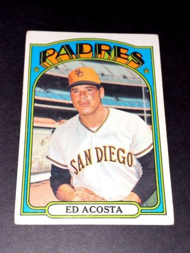 VINTAGE ED ACOSTA RADRES 1972 TOPPS #123 GD-VG