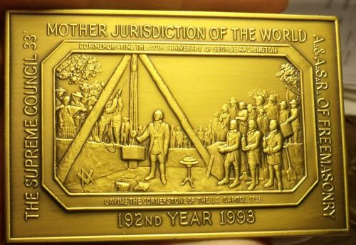 Huge 100 Gram Solid Bronze James Hoban Freemason Architect Of The White House~FS