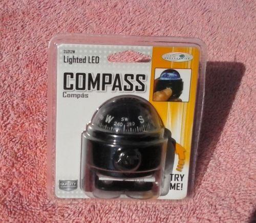 LED Lighted Compass Dashboard Dash Mount Navigation Car Truck Boat Marine Black