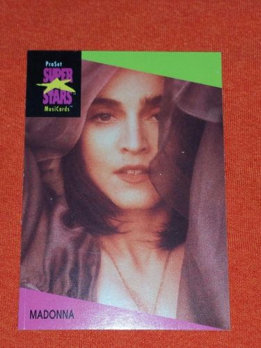 RETRO MADONNA 1992 PROSET ROCK & ROLL COLLECTORS CARD #68 MNT