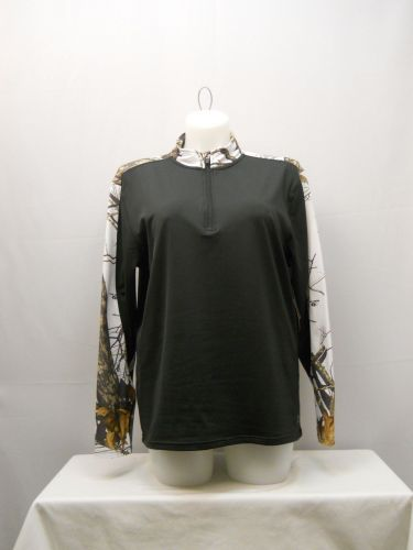 SIZE L Womens Mossy Oak Winter Camouflage Pullover Top ENERGY ZONE Hunting