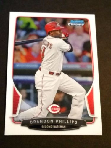 MLB BRANDON PHILLIPS REDS SUPERSTAR 2013 BOWMAN CHROME #94 MNT