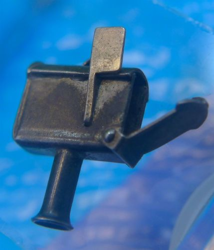 Vintage 3D Sterling Charm : Articulated Residential Mailbox - Opens and Shuts