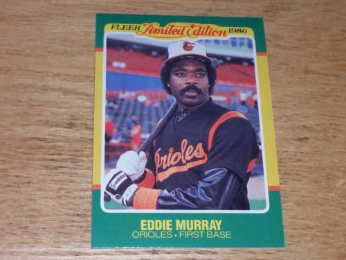 VINTAGE Eddie Murray Baltimore Orioles 1986 FLLER LIMITED EDITION GLOSSY NMNT