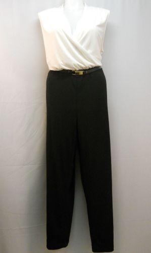 Calvin Klein Colorblock Sleeveless Surplice Belted Wide Legs Jumpsuit Size 22W