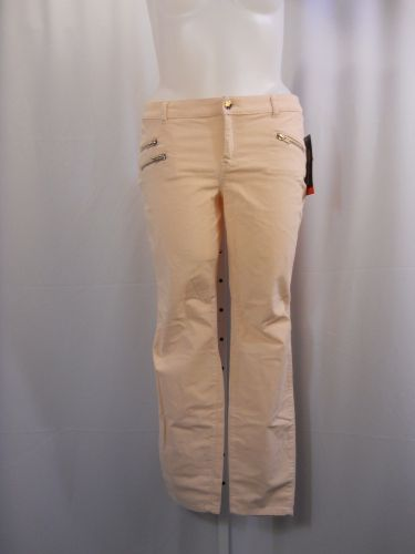 SIZE 18 Legging Pants STYLE&CO Solid Pink Corduroys Skinny Legs Narrow Opening
