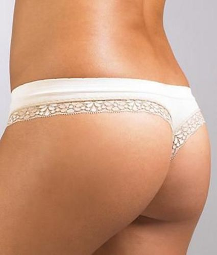 A545T DKNY Saucy and Seamless Embossed Logo Microfiber Low Rise Thong 476669 New