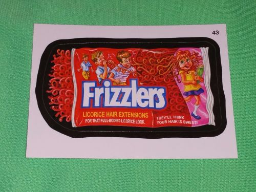 RARE Willy Wonka Wacky Package Frizzlers Collectors Sticker Card Mint