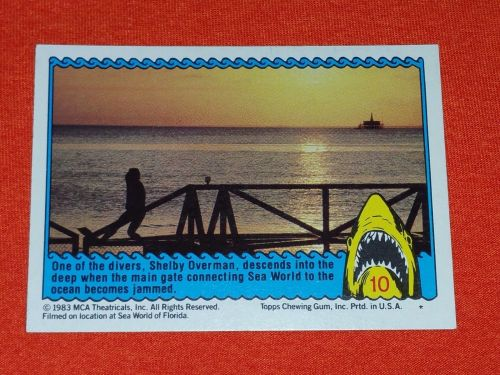 RETRO JAWS IN 3-D 1983 MCA COLLECTORS CARD #10 MNT