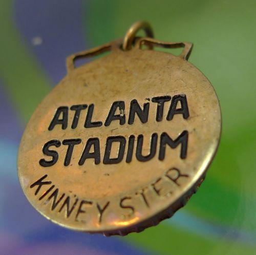 CHARM: KINNEY GOLD VERMEIL OVER STERLING TRAVEL SOUVENIR : ATLANTA STADIUM