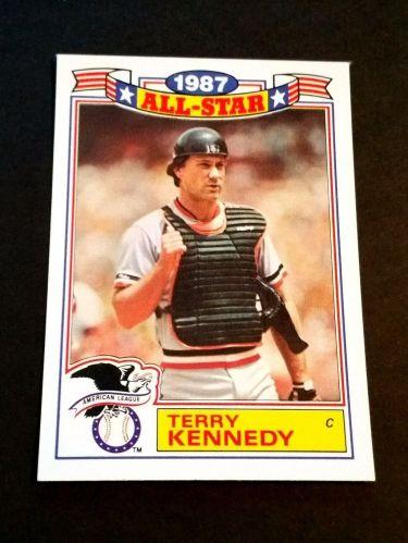 VINTAGE TERRY KENNEDY 1987 TOPPS ALL STAR BASEBALL #9/22 GD-VG