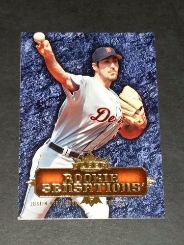 MLB JUSTON VERLANDER TIGERS 2007 FLEER ROOKIE SENSATIONS INSERT GD-VG