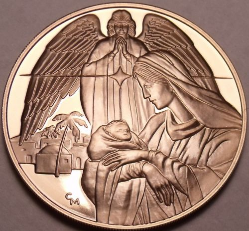 Massive Gem Proof Christ Is Born Medallion~The Three Wise Men~Incredible~Free Sh