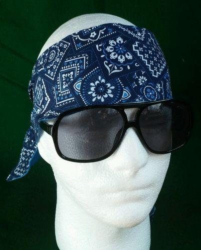 Headband hair wraptie bandanna print great for bikers men women