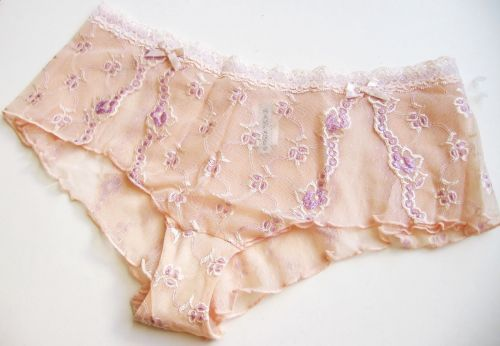 X0228 Rampage NEW Women's Sheer Mesh Embroidered Floral Lace Waist Hipster S PR
