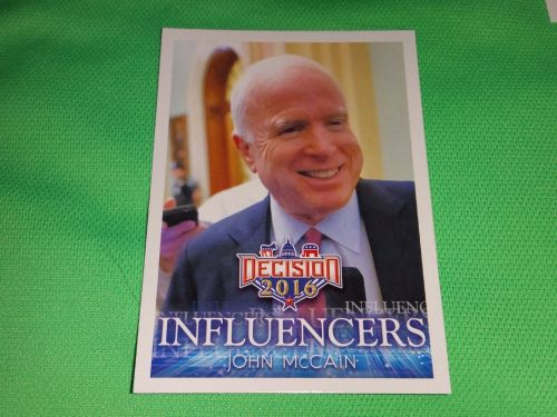 2016 Presidential INFLUENCERS John McCain Collectible Card Mnt