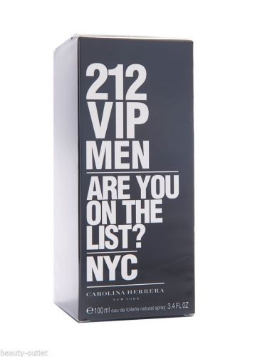 Carolina Herrera 212 VIP MEN EDT 100ml 3.4oz Eau de Toilette NEW Hombres Homens
