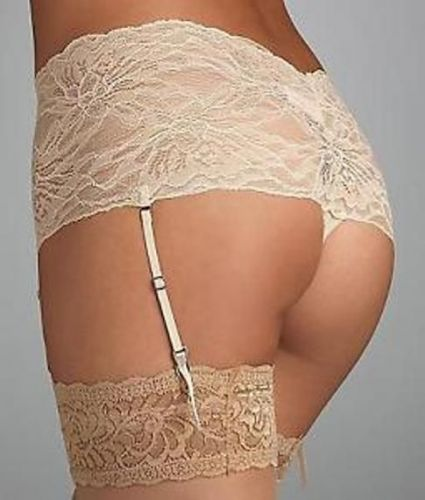 X0280 Natori Josie NEW 850111 Sunset All-Over Lace Thong Removable Garter Straps