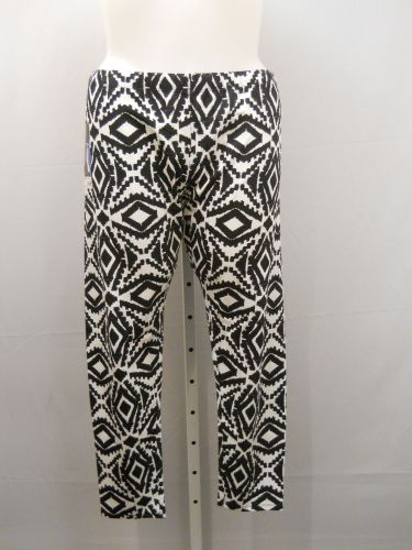 PLUS SIZE 4X Womens Ankle Leggings NO BOUNDARIES Mid Rise Aztec Print Inseam 29