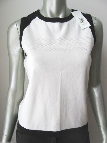 LizGolf NEW Wht Stretch Cotton Breath-Vent Design Sleeveless Knit Tank Top M PR