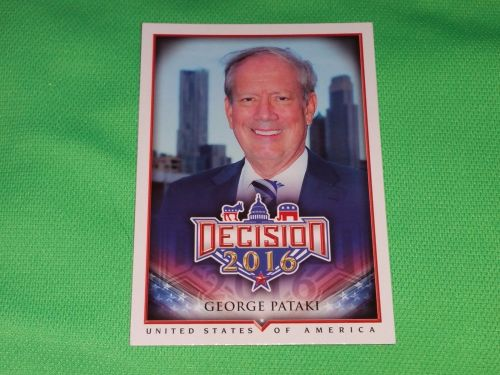 2016 Presidential Decision Governor George Pataki Collectible Card Mnt