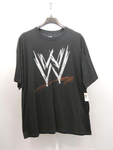 BIG TALL SIZE 3XL Mens T Shirt WWE Wrestling Black Short Sleeved Crew Neck