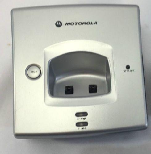 Motorola MD7151 3 main base = tele phone handset cradle stand charger charging