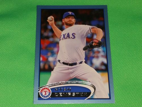 MLB Ryan Dempster Rangers SUPERSTAR 2012 TOPPS BLUE BORDER BASEBALL MNT