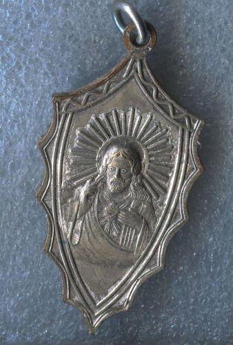 Vintage Catholic Religious Holy Medal Ad Jesum Per Mariam Sodalis Aspirans