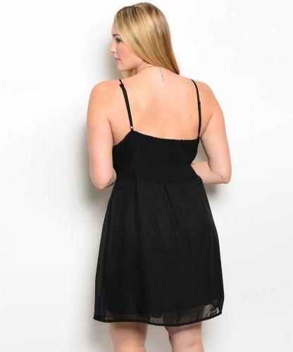 C.O.C. Black Jeweled Party Formal Bridesmaid Prom Dress Plus Size 1XL-3XL