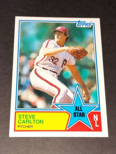 VINTAGE STEVE CARLTON PHILLIES 1983 TOPPS ALL STAR #406 GD-VG