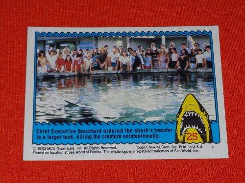 RETRO JAWS IN 3-D 1983 MCA COLLECTORS CARD #25 MNT