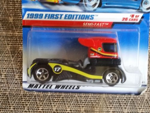 Factory sealed 1999 first edition Mattel Hot Wheels Simi-Fast Die Cast Car #8