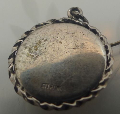 CHARM: ASTROLOGY sterling ZODIAC CAPRICORN in LUCITE or GLASS BUBBLE